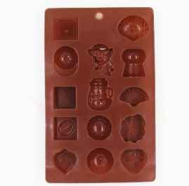 Silicone Chocolate Molds Reusable Multi Shape 14 Cavity Candy Baking Mold-1 Pc