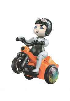 Electric Musical Tricycle Riding Boy Toy for Kids (Multi Color)