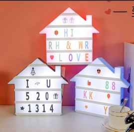 Creative DIY LED+ 96 Letter Combination Cinema Lightbox