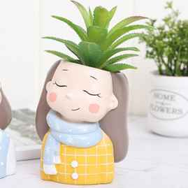 Beautiful planter in girl shape