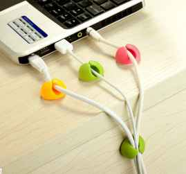 6 Pcs Cable Clip With Double Tape