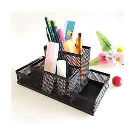 4 compartment metal desktop stand