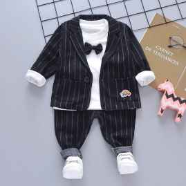 3 PCS SET PARTY WEAR SUPER COOL STUFF BLACK