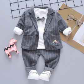 3 PCS SET PARTY WEAR SUPER COOL STUFF GREY COLOUR