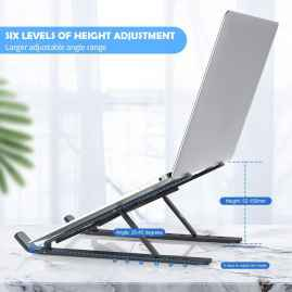Foldable Laptop Stand Holder with in-built adjustable Legs