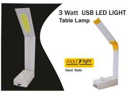 USB operated table lamp with light adjustment-Hand Made by Women Of India