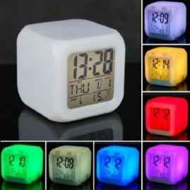 Automatic 7 Colour Changing Digital alarm clock