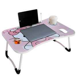 Portable Foldable Bed Laptop Table Hello Kitty Print
