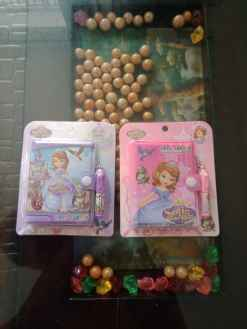 Princess Print Kids Diary with Pen