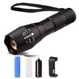 Portable Ultra Bright Handheld LED Flashlight with Adjustable Focus and 5 Light Modes