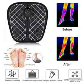 EMS Electric Foot Stimulator Massager, Folding Portable Electric Massage Mat