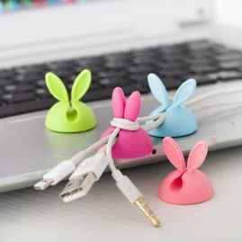 4 Pcs Set Cable Clips (RANDOM COLOUR)