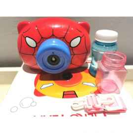 Electric Blowing Camera Bubble Machine FOR KIDS - Superheros