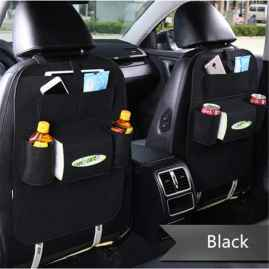 2 Pcs Set Car Back Seat Storage Organiser - BLACK