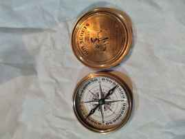 Boy scouts 3 inches compass brass compass vintage compass replica engraved compass gifts for him
