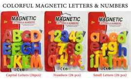 Magnetic Capital Letters, Numbers and Small Letters For Educating Kids in Fun (PACK OF 3)