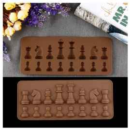 Chess Design Silicone Chocolate Moulds
