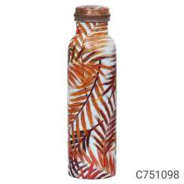 1 Ltr High Quality Copper Water Bottle Printed