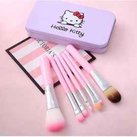 Hello Kitty Soft Makeup Brush and Applicator Set Of 7