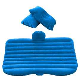 Travel Bed Sofa with 2 Inflatable Pillows & Air Pump for Car Back Seat (Random Colour)