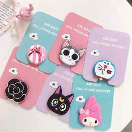 3 Pcs Set Cartoon Design Pop Sockets (Random Designs)