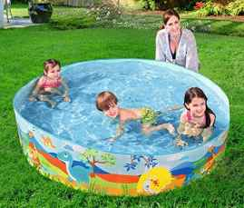 Bestway Non Inflatable Permanent Wall Swimming Pool - 5 FEET