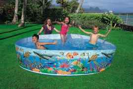 Bestway Non Inflatable Permanent Wall Swimming Pool - 8 FEET