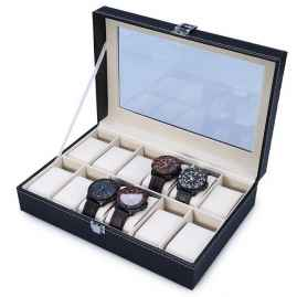 12 Slots Watch Organizer Box