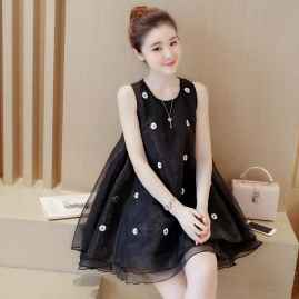BEAUTIFUL SLEEVELESS  PRINCESS DRESS BLACK