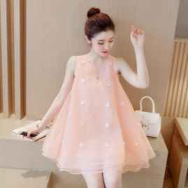BEAUTIFUL SLEEVELESS  PRINCESS PINK DRESS