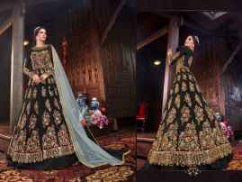 LATEST DESIGNER WOMEN LEHENGAS FOR BRIDE BLACK COLOUR