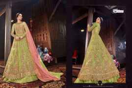 LATEST DESIGNER WOMEN LEHENGAS FOR BRIDE LIGHT GREEN COLOUR