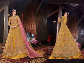 LATEST DESIGNER WOMEN LEHENGAS FOR BRIDE MUSTURD YELLOW COLOUR