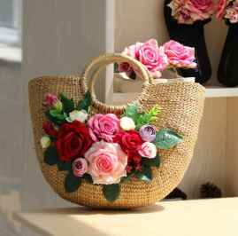 NATURAL STRAW HANDMADE LADIES HANDBAGS BEAUTIFUL ROUND SHAPE