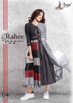 RAHEE WESTERN KURTI WITH LONG KOTI