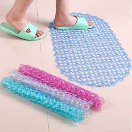 Rubber Silicone Suction Shower Mat (Random Color)