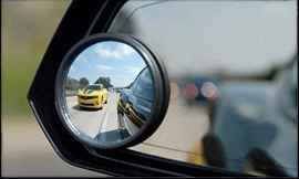 Blind Spot Round Wide Angle Adjustable Convex Rear View Mirror - Pack of 2