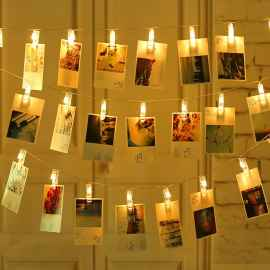16 Photo Clip String Lights