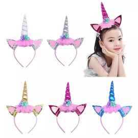 Unicorn Horn Party hairbands for kids