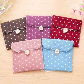 Polka dot Sanitary Napkin Pouch 4 Pcs Set
