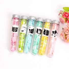Travel Soft Paper Soap In Flower Design Tube Shape Bottle Pack of 6