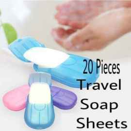Portable Easy Carry Travel Soap Sheet Paper Dissolvable (Set Of 5)