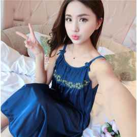 SATIN NIGHTIES BLUE
