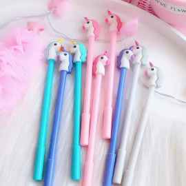 Cute Unicorn Cartoon Gel Pen - 12 PC Pack