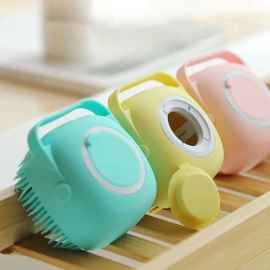 Soft Silicone Bath Massage Brush (Random Color)