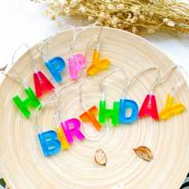 HAPPY BIRTHDAY LIGHTS -13 LED LETTER BATTERY OPERATED