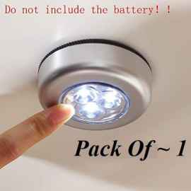 3LED Push Button Battery Power Stick Emergency Touch Light for Wall - 1 Pc