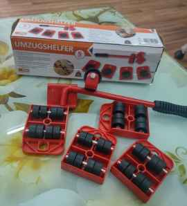 Heavy furniture lifter tool with 4 wheel sliders