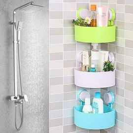 Triangle Suction Bathroom, Kitchen Multipurpose Rack