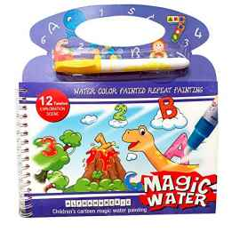 5 Pcs Set Kids Magic Water Reusable Drawing Pad Doodle Book with Pen (Random Design)